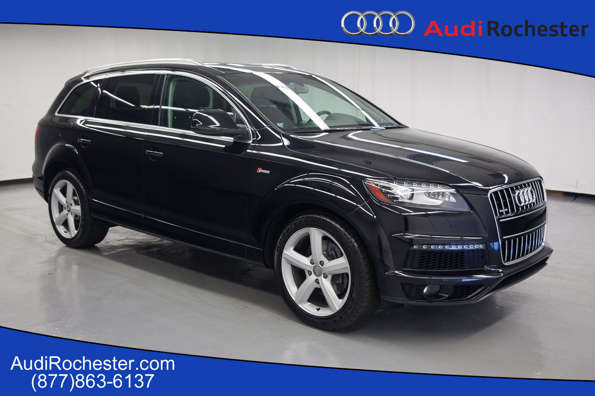 pre owned 2015 audi q7 3 0t quattro s line prestige suv in rochester 12001517p garber rochester. Black Bedroom Furniture Sets. Home Design Ideas